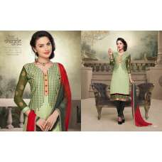 Green and Red NITA PARTY WEAR LONG STRAIGHT SALWAR KAMEEZ