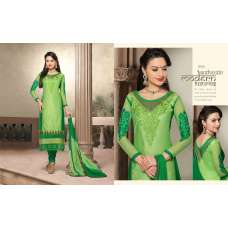 Green Flash NITA PARTY WEAR LONG STRAIGHT SALWAR KAMEEZ