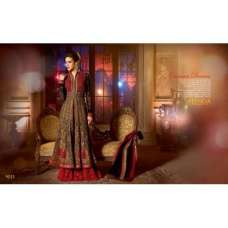 Black and Red SHENOA WEDDING WEAR HEAVY EMBROIDERED DESIGNER DRESS