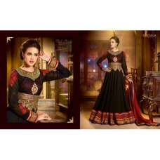 Black SHENOA WEDDING WEAR HEAVY EMBROIDERED DESIGNER DRESS