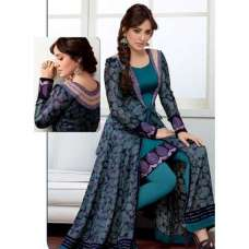 Teal Blue NEHA SHARMA Pure Georgette Trendy Suit