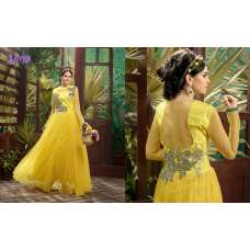 Buttercup Yellow SAYNA ADA WEDDING WEAR HEAVY EMBROIDERED GOWN