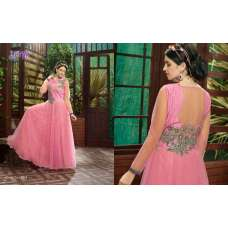 Rose Quartz Pink SAYNA ADA WEDDING WEAR HEAVY EMBROIDERED GOWN