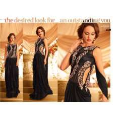 Black GOWNS 2 WEDDING WEAR HEAVY EMBROIDERED GOWN