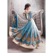 Zoya-9007-B Colour Plus Blue Anarkali Dress Wedding Suit