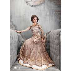 Zoya Beige Wedding Wear Anarkali Dress Suit Colour Plus 9007-A