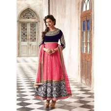 Pink and Purple Floral Rakul Preet Designer Wear Anarkali