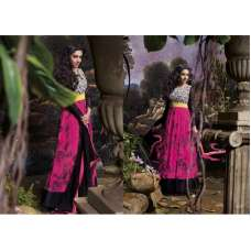 AS3035 Black With Purple Stunning Anarkali Indian Designer Asmira Semi Stitched Suit