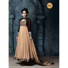 Brown and Beige Stunning Hariette Anarkali Salwar Suit 56016