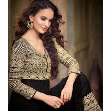 Black and Gold Maskeen Maisha Crush Dress (Ma2208)