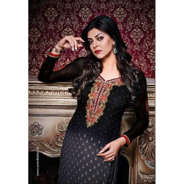 6ff10d7100d Black AV7817 Stunning Avon With Sushmita Wedding Wear