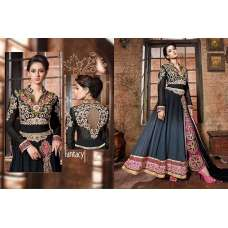 Black Z9072 Z Plus Anarkali Style Salwar Kameez Suit