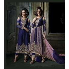 Blue Khwaab Aura wedding Salwar Kameez Suit (KH-8007)