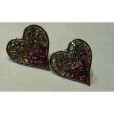 GORGEOUS NEW TWO TONE HEART SHAPED EARRINGS