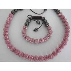 FULL CRYSTAL PINK NECKLACE