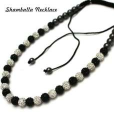 Full New Black & White Unisex Real Crystal Necklace