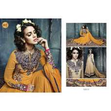 Dark Yellow Stunning Hariette Anarkali Salwar Suit 56014