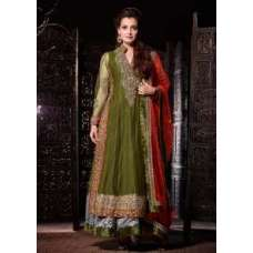DM19003 Kaki Green Mohini Wedding Designer Suit
