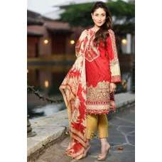 Faraz Manan Red Lawn Crescent Summer Pakistani Suit 2015 (replica)