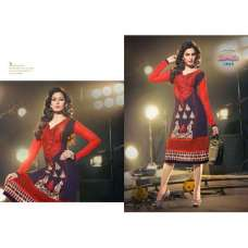 Dark Blue and Red MARVELLA 4 PARTY WEAR GEORGETTE KURTI