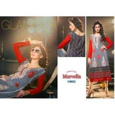 Grey and Red MARVELLA 4 PARTY WEAR GEORGETTE KURTI