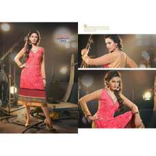 Pink MARVELLA 4 PARTY WEAR GEORGETTE KURTI