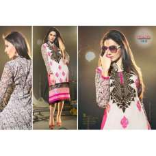 White and Pink MARVELLA 4 PARTY WEAR GEORGETTE KURTI