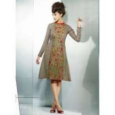 Beige ETHEREAL PASHMINA Winter Wear Indian Design Kurti