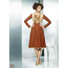 Brown ETHEREAL PASHMINA Winter Wear Indian Design Kurti