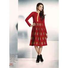 Red ETHEREAL PASHMINA Winter Wear Indian Design Kurti