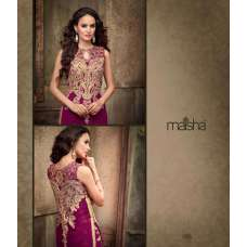 MA2205 Purple with Gold Maskeen Maisha Crush Dress