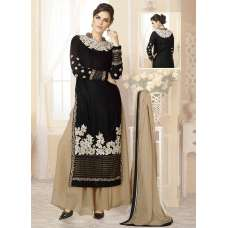 Mehak Black Wedding Wear Georgette & Net Anarkali Suit