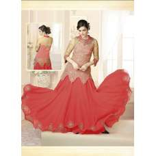 Mehak Pink Wedding Wear Georgette & Net Anarkali Suit