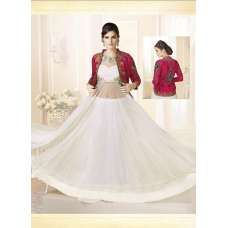 Mehak White With Fuschia Pink Wedding Wear Georgette & Net Anarkali Suit