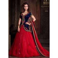 MP21001 Blue With Red Mohini Princess Wedding Wear