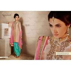 Nk11020- Pink and Gold with Blue Nakkashi Heavy Bridal EID Designer Dress