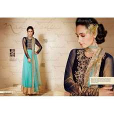 Nk11021- Black and Blue Nakkashi Heavy Bridal EID Designer Dress REady Made In Small Size