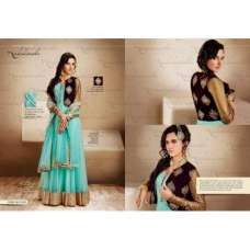 Nk11022-AQUA GREEN WITH PLUM Nakkashi Heavy Bridal EID Designer Dress( Small size)