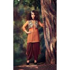 Orange Maroon Designer Patiala Punjabi Suit