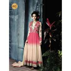 Peach With Pink Stunning Hariette Anarkali Salwar Suit 56013