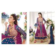 Purple And Blue Maisha Gauhar khan Party Wedding Wear Suit