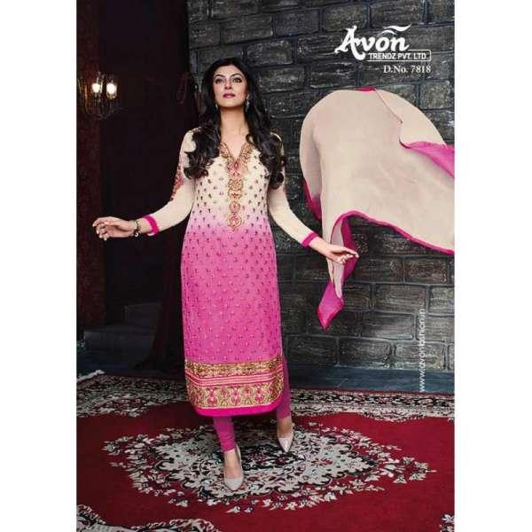2bd507b3bc7 Purple With Beige AV7818 Stunning Avon With Sushmita Wedding Wear