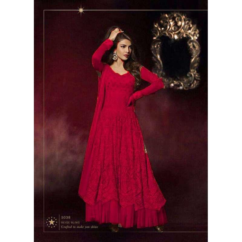 Red Priyanka Chopra HEROINE Lime Light Designer Dress- Red