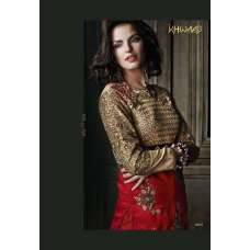 Red with Gold Khwaab Aura Salwar Kameez  (KH-8008)