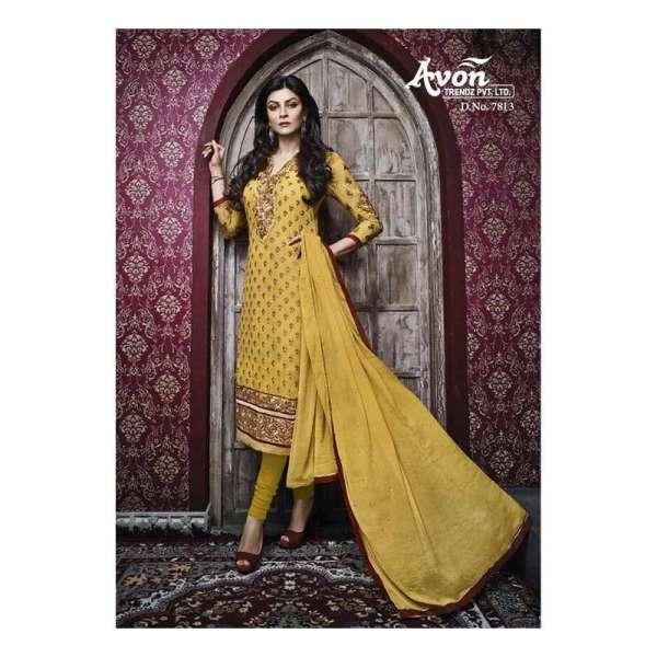 9ec1d29ce93 Yellow AV7813 Stunning Avon With Sushmita Wedding Wear