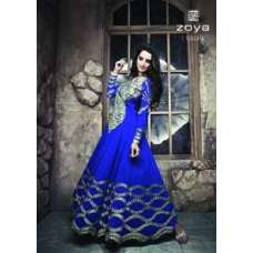 ZCM11003 Blue Zoya Colour Maxi Suit