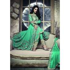 ZCM11003 Light Green Zoya Colour Maxi Suit