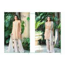 1541 PEACH AND WHITE DECENT GEORGETTE PAKISTANI STYLE SALWAR KAMEEZ SUIT
