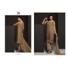51006 BROWN BAROQUE PAKISTANI DESIGNER STYLE SUIT