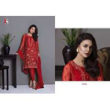 51003 RED BAROQUE PAKISTANI DESIGNER STYLE SUIT